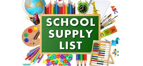School Supply Lists - 2020-2021 School Year